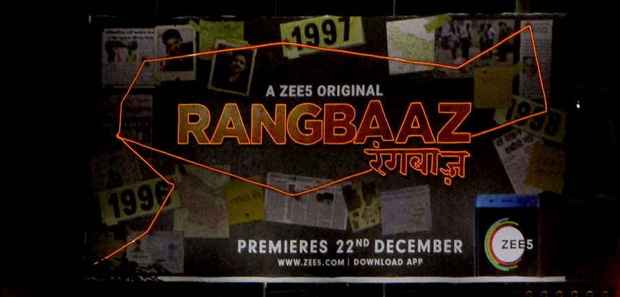 ZEE5's 'Rangbaaz' hits the OOH space